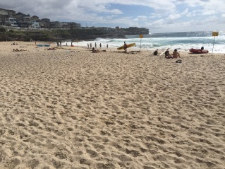 Bronte Beach on a choppy sea day.