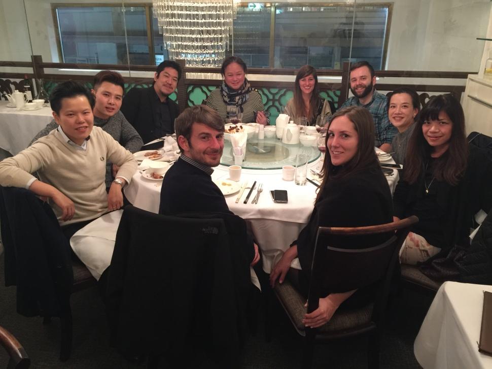 The team that eats shrimp head together, stays together.