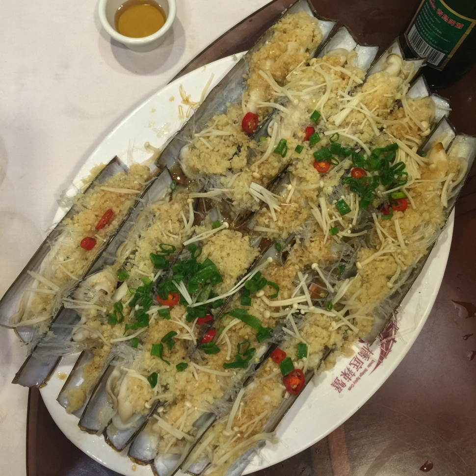 The razor clams look a bit odd but are stunningly garlicky and a nice texture.