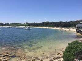 La Perouse beach with beachgoers