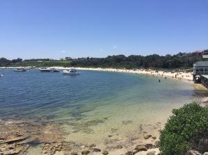 La Perouse beach with beachgoers