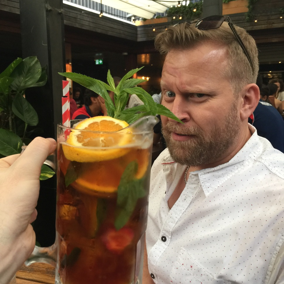 Pimms cocktail at The Bank