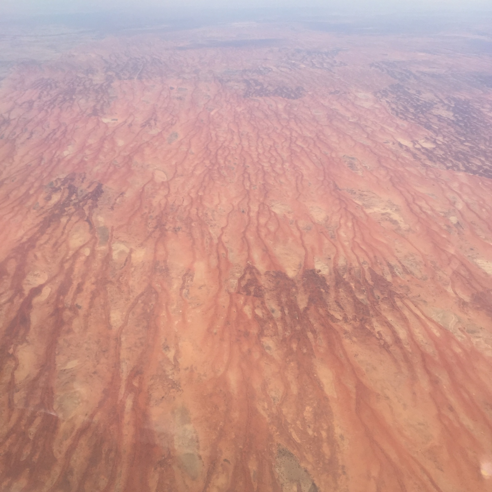 Flying over the Northern Territory in Australia
