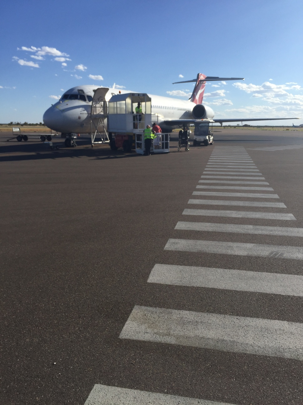 Qantas Flight at Alice Springs