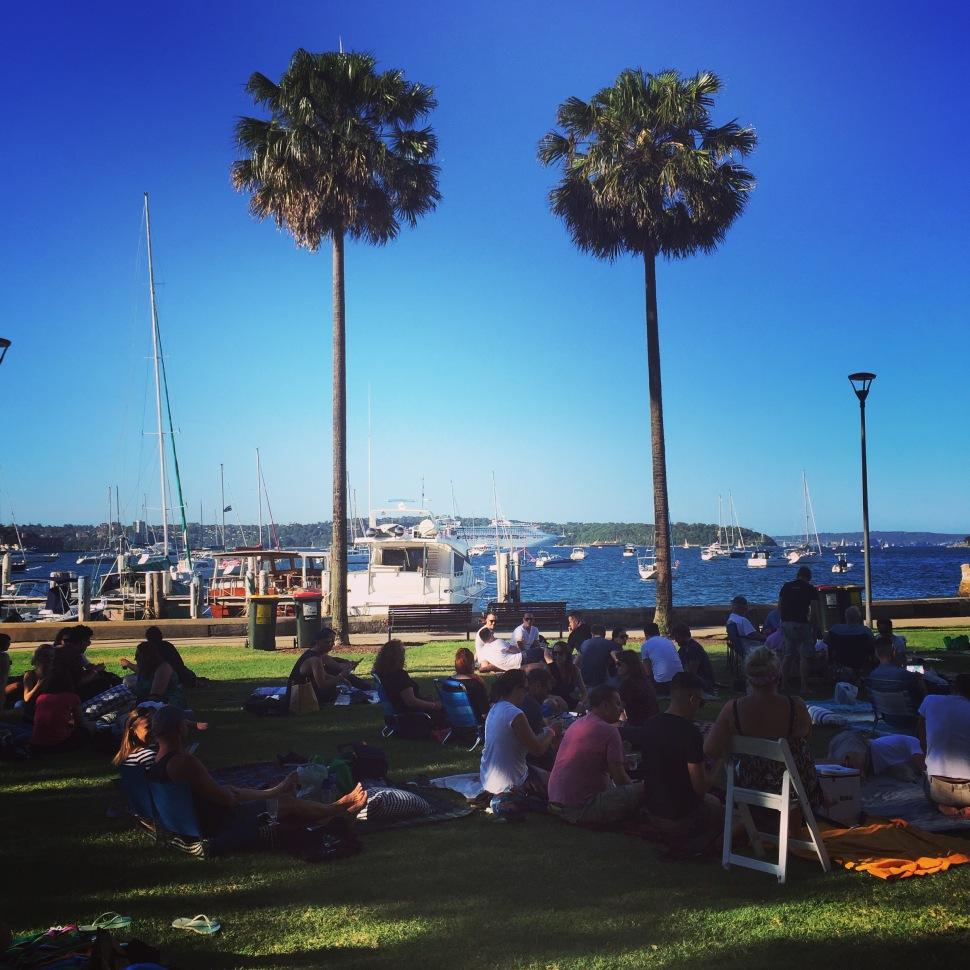 Beare Park Elizabeth Bay Outdoor Cinema