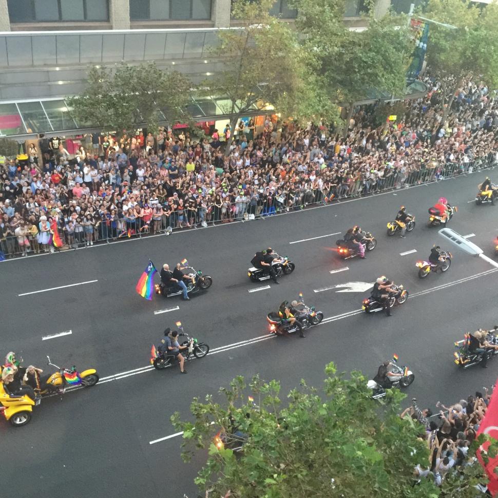 Sydney Mardi Gras Parade Burdekin Hotel View