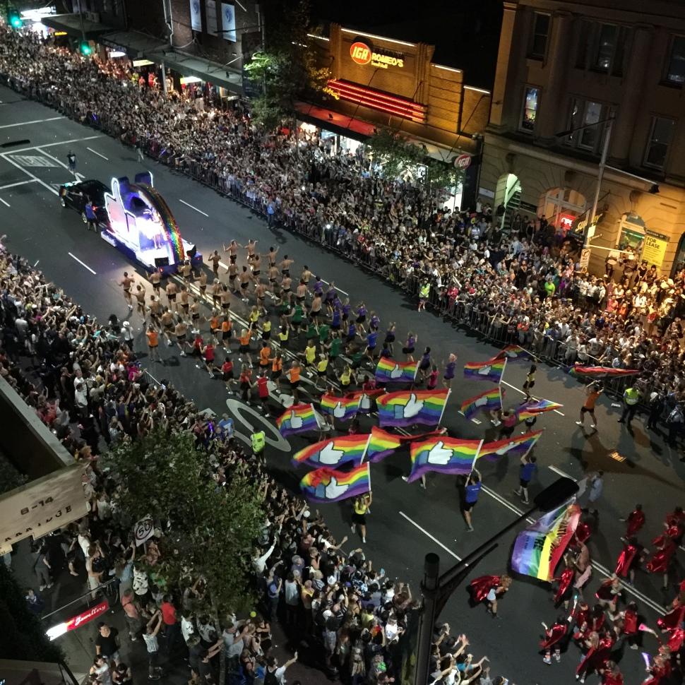 Facebook #sharethelove Mardi Gras Sydney