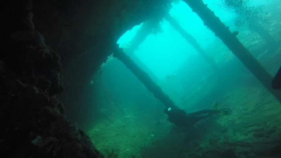Penetrating the USAT Liberty Wreck in Bali
