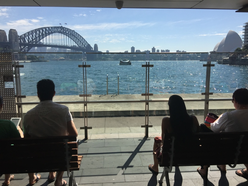 Waiting to board Manly Ferry in Sydney