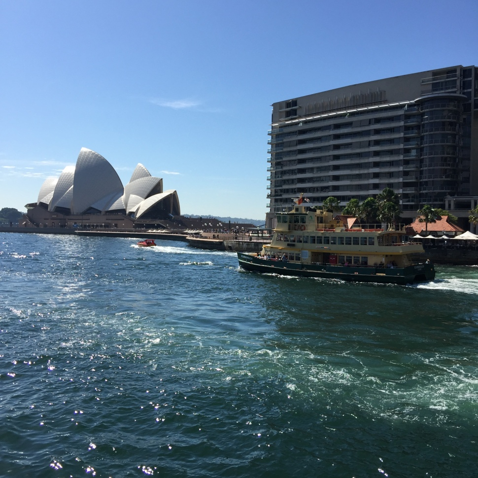 View of Sydney Opera House from Manly Ferry