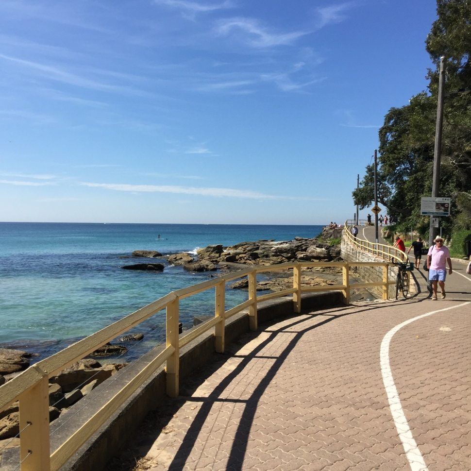 Marine Parade in between Manly Beach and Shelly Beach