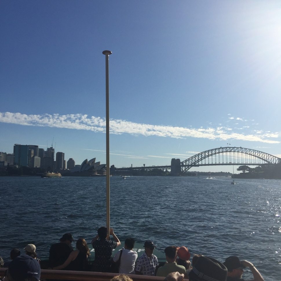 Returning to Sydney on Manly Ferry
