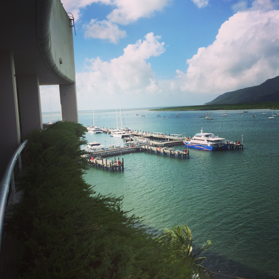 The wharf in Cairns Australia looking across Trinity Inlet