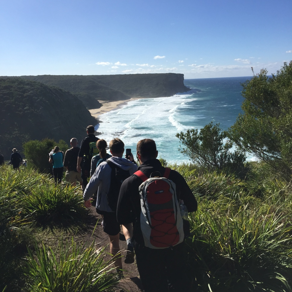 Walking the the Coast Track from Otford to Bundeena in NSW Australia.
