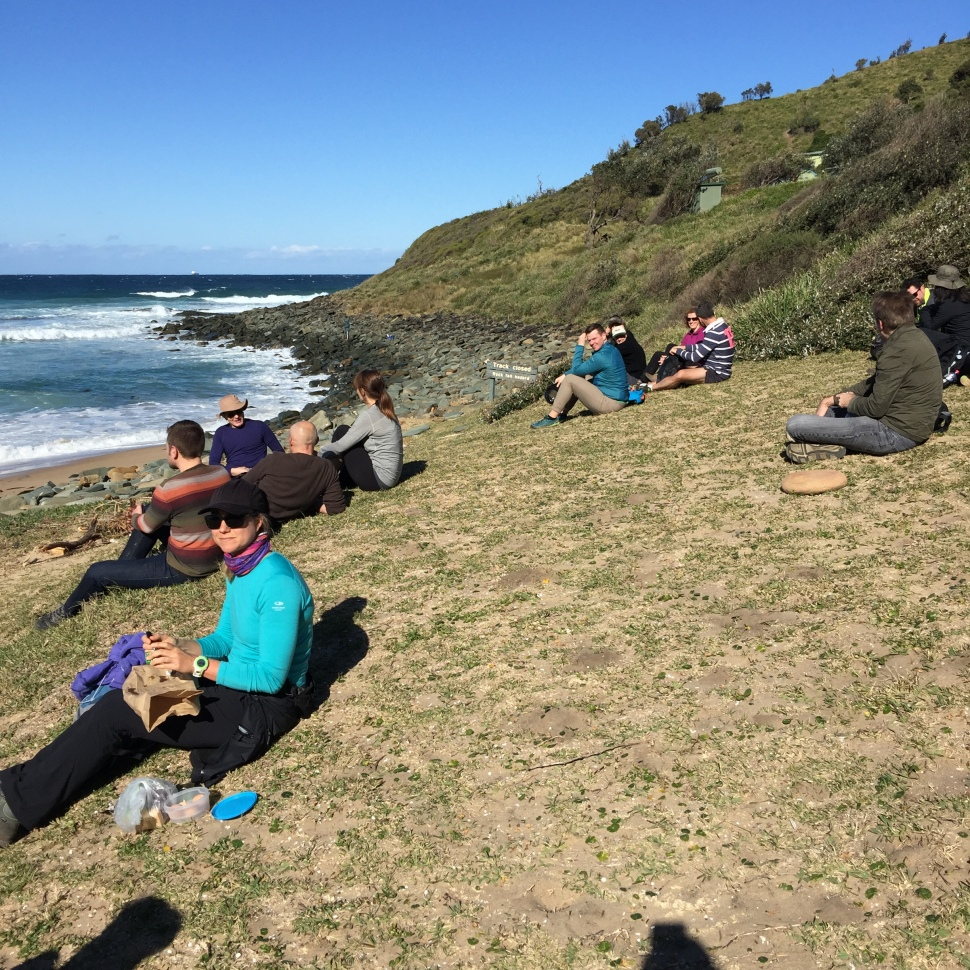 Lunch break during Coast Walk