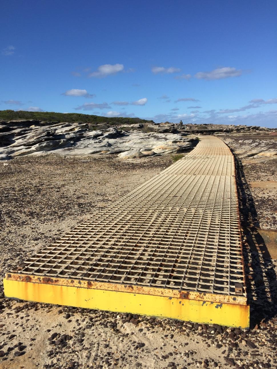 Metal boardwalk at Coast Walk NSW