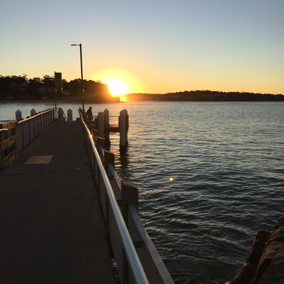 Sunset at Bundeena Wharf