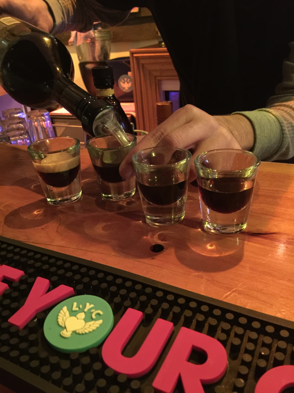 celebrating with shots family bar auckland