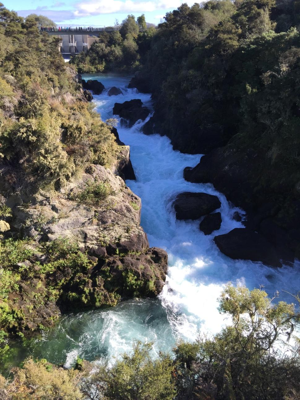 aratiatia rapids dam opening viewpoint