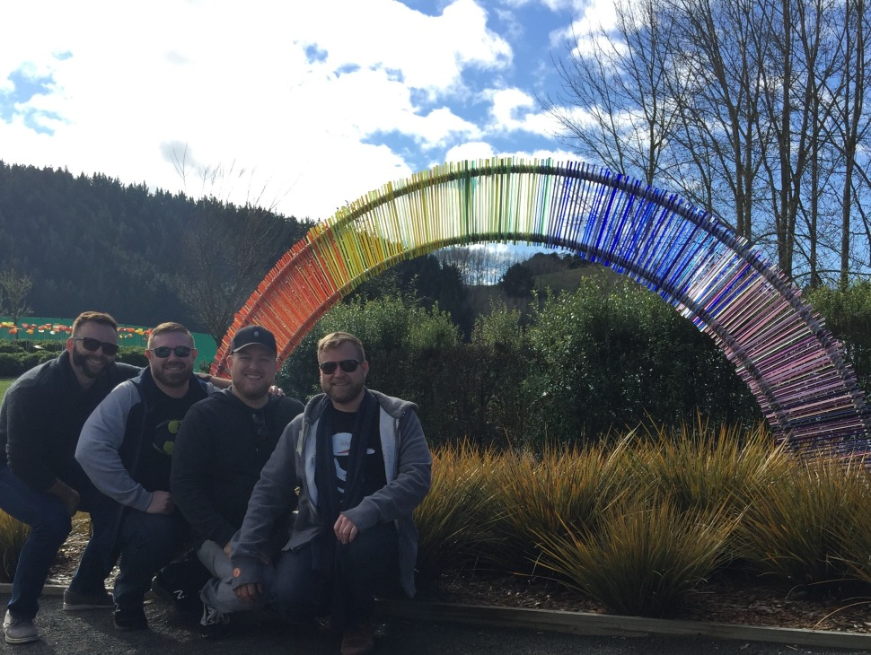 lava glass rainbow group photo