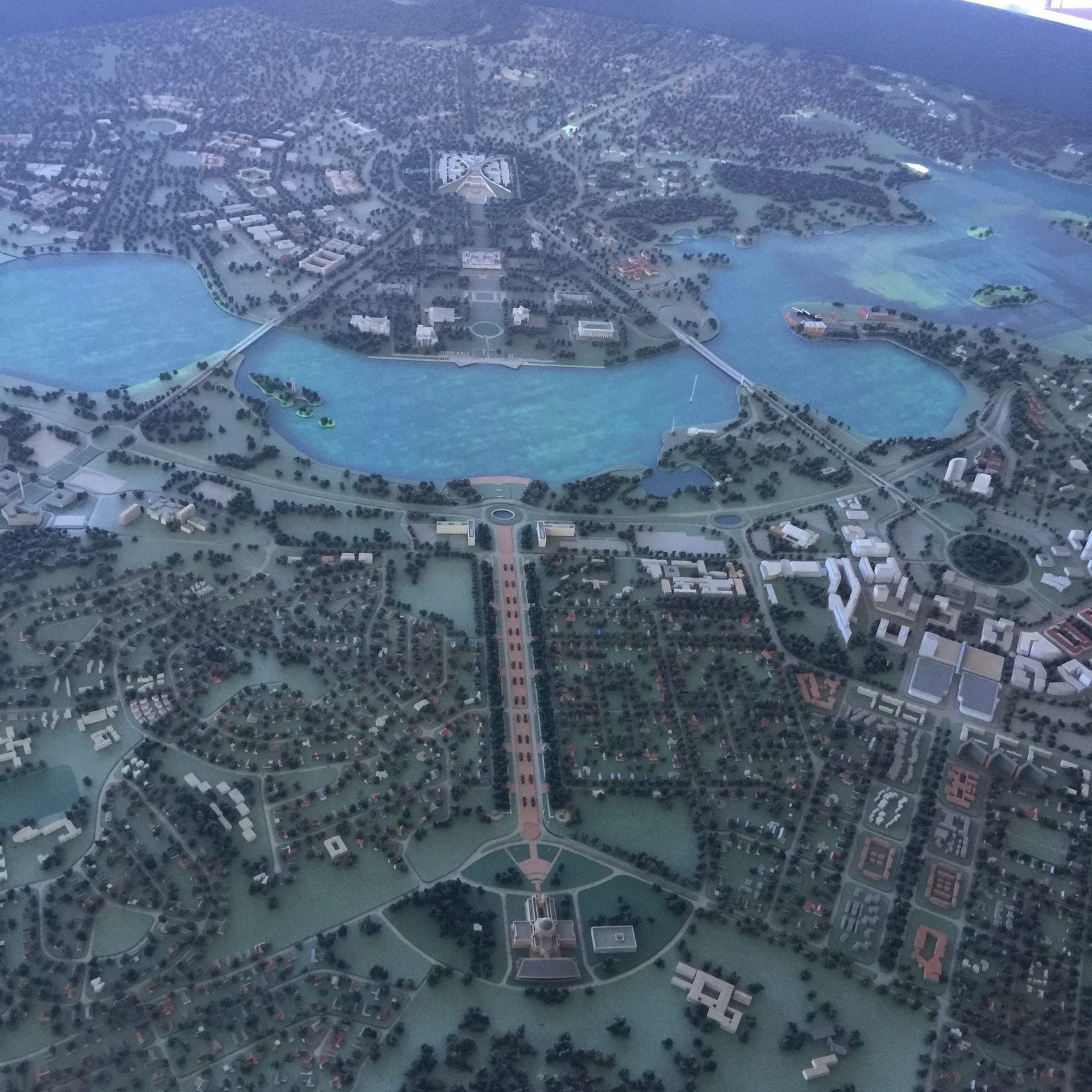 National Capital Exhibition model of Canberra