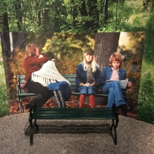 You can take a picture with them at this seat. Doesn't really work if you try to selfie it.